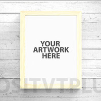Poster Frame Photography Style / Rustic Wood / pine wood / white frame / 8x10in / mockup