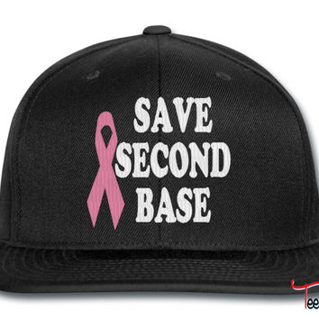 save second base pink snapback