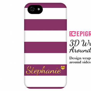 Personalized iPhone 6 case, iPhone 6 plus case, custom iPhone 5c case, iPhone 4s phone cases, galaxy s5 case, maroon stripes iPhone 6 case