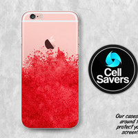 Red Watercolor Clear Case iPhone 7 iPhone 6s iPhone 6 iPhone 6 Plus iPhone 6s iPhone 5c iPhone 5 iPhone SE Watercolor Splatter Paint Tumblr