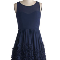 ModCloth Short Length Tank top (2 thick straps) Crimpin' My Style Dress in Navy