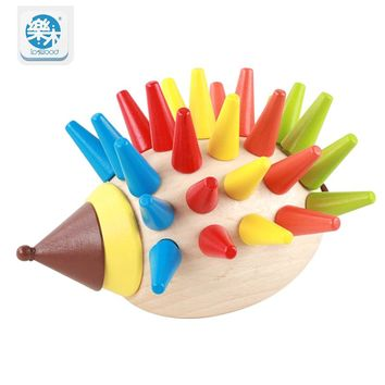 2017 Hot Sale Free Shipping Early Learning Baby Toys Hedgehog Fruit Interesting Wooden Toys Coordination Skills Development gift