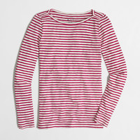 Factory long-sleeve artist boatneck tee in stripe