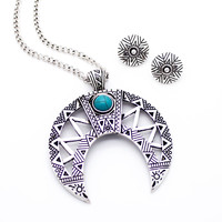 Double Horn long necklace