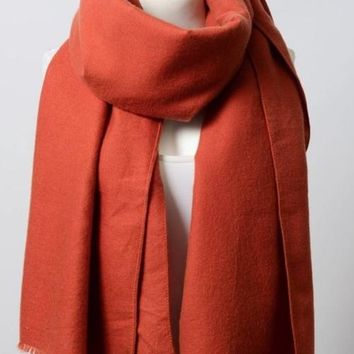 Soft Rust Blanket Scarf