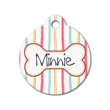 Colorful Stripes - Pattern Pet Tags
