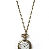 stil - rose time piece necklace (dirty gold) - Stil | 80's Purple