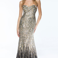 KC14110 Strapless Sequin Prom Dress by Kari Chang Couture