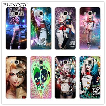 Suicide Squad Harley Quinn print Hard plastic Case For Samsung Galaxy J1 J5 J7 2016 Note 2 3 4 5 Phone Back Cover Capa Funda