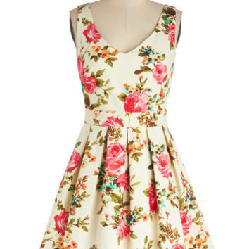 ModCloth Mid-length Sleeveless A-line Bookmaking Brunch Dress