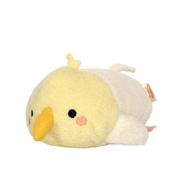 Soft and Downy Bean Shaped Sleeping Plush Doll (Cockatiel / Yellow)