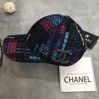 Chanel Crochet Embroidered Baseball Cap Hat