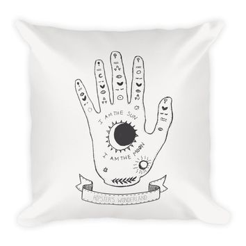 Palmistry Hand Square Pillow
