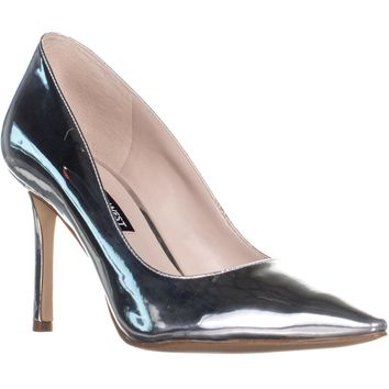 Nine West Emmala Pointed Toe Classic Pumps, Silver, 7 US