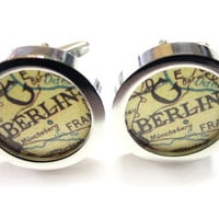 Berlin Map Pendant Cufflinks