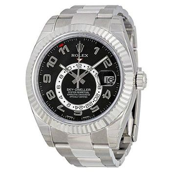 Rolex Sky Dweller Black Dial 18K White Gold Automatic Mens Watch 326939BKRO