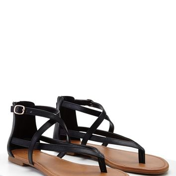 Crisscross Ankle-Wrap Sandals