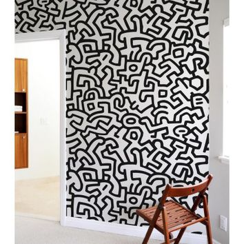 Blik Keith Haring Pattern Wall Tiles | Hayneedle