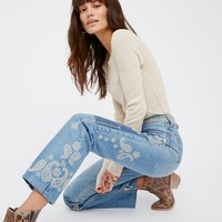 Free People Heirloom Paisley Jean