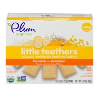 Plum Organics Little Yums Teething Wafers Pumpkin Banana 3ct