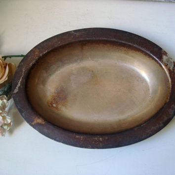 Vintage Silver Plate Dish, Patina Small Serving Bowl, Shabby Chic Decor, Metal Bowl, Wedding Decor, Farmhouse Dining Table Decor