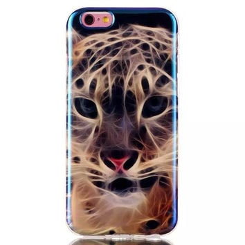 Leopard Blue Light Case Cover for iPhone & Samsung Galaxy S6  Unique iPhone 6s Plus
