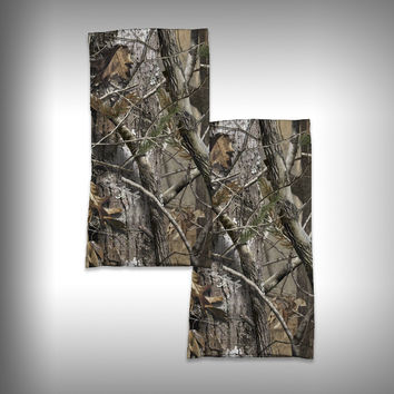 Monk Wrap Neck Gaiter / Face Shield - Wooded Camo