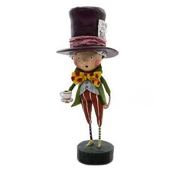 Lori Mitchell MAD HATTER Polyresin Alice Wonderland Tea Party 11128