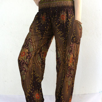 Hipie pants Harem pants nightwear baggy pants bohemin style Aladdin Pants/Yoga pants/palazzo pants/women in yoga pants/boho pants/pyjamas