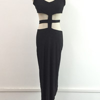 Black Cutout Sleeveless Maxi Dress