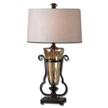 Aemiliana Amber Glass Table Lamp By Uttermost