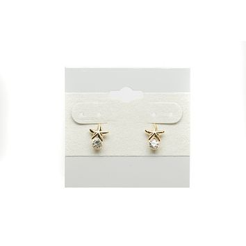 Starfish with Cubic Zirconia Fashion Earrings