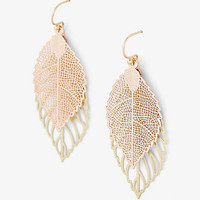Double Leaf Drop Earrings from EXPRESS
