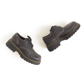 Doc Martens Chunky Shoe Dr Martens Platform Shoe Creeper Shoe Dr Martin Shoe 90s Grunge Leather Shoe Women Size US 7-7.5, EU 37.5-38, UK 5