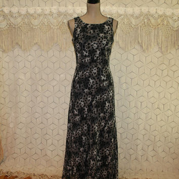 Sexy Gray Animal Print Maxi Sleeveless Chiffon Silk Dress Size 6 Dress Womens Dresses Long Dress Donna Morgan Womens Clothing