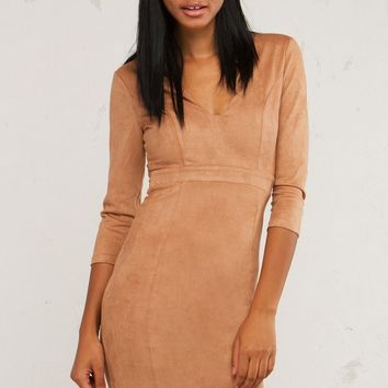 Suede Bodycon Dress To Have