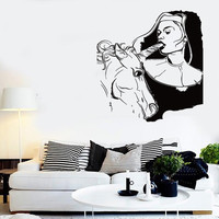 Wall Stickers Vinyl Decal Super Sexy Decor Bad Girl And Unicorn Bedroom (z2212)
