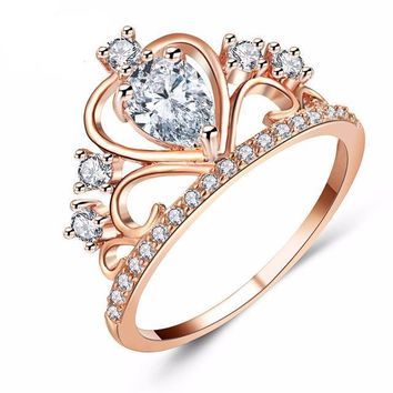 Luxury Princess Crown Ring