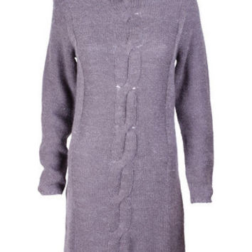 Addie Dark Grey Knit Jumper Dress