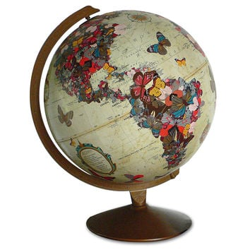 BUTTERFLY GLOBE | Sculpture, Geography, World, Map, Wendy Gold, Art, Home Decor | UncommonGoods