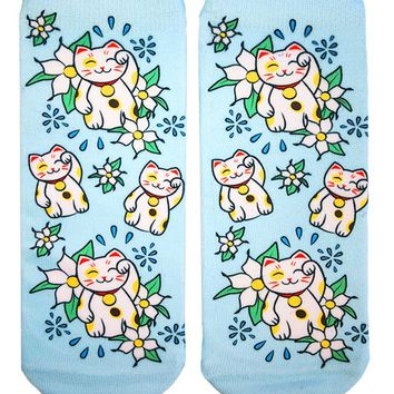 Maneki Neko Ankle Socks