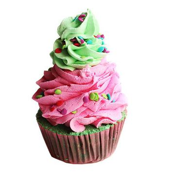 Sour Watermelon Candy Cupcake Bath Bomb