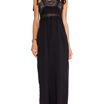 For Love & Lemons Sweet Tea Maxi Dress in Black