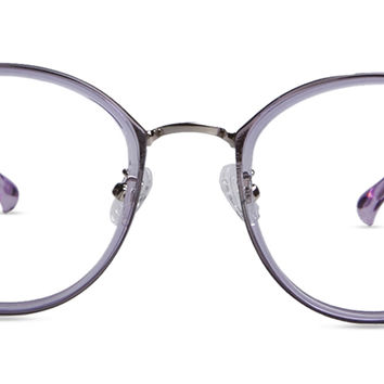 Women's full frame mixed material eyeglasses