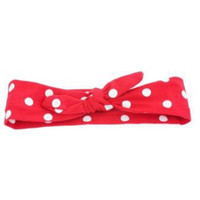 Red & White Polka Dot Knotted Headband