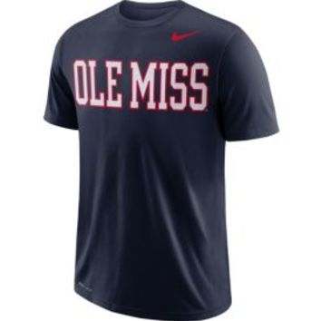 Nike Men's Ole Miss Rebels Blue Wordmark T-Shirt | DICK'S Sporting Goods