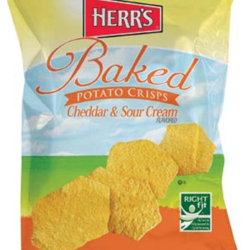 Herr's Cheddar & Sour Cream Baked Potato Crisps 1 oz Bags - Pack of 30