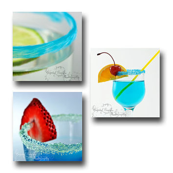 Cocktail Drinks Wall Art Home Decor Fine Art Photography Martini Daiquiri Umbrella Drink Rimming Sugar FREE SHIPPING