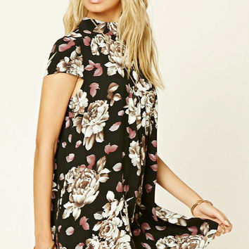 Floral Cutout-Back Dress