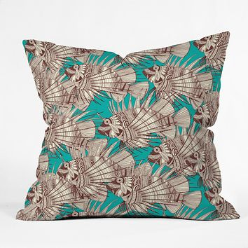 Sharon Turner fish mirage Throw Pillow